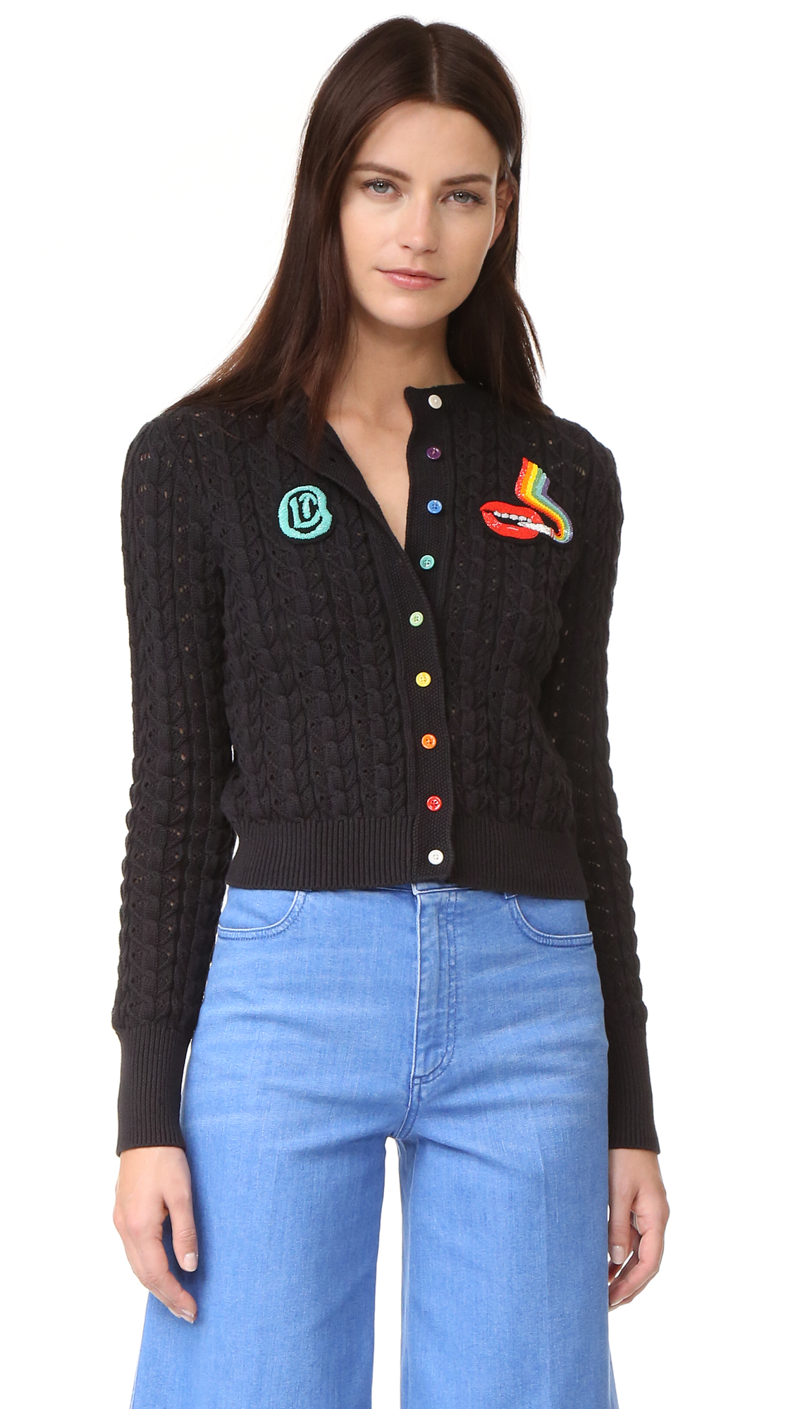 olympia letan female olympia letan cardigan dutches jacket black
