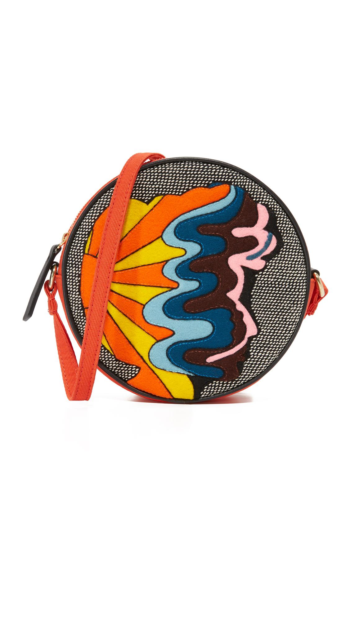 olympia letan female olympia letan combination messenger bag orange