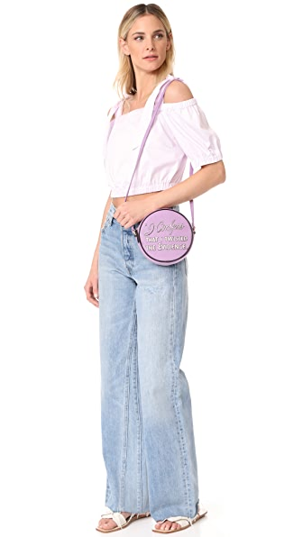 OLYMPIA LE-TAN I Confess Dizzie Cross Body Bag in Mauve