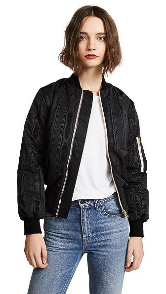 Olympia Le-Tan Josephine Psycho Bomber Jacket In Black