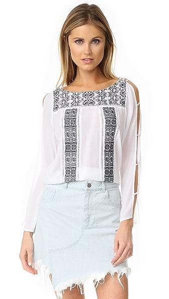 OndadeMar Рубашка с вышивкой