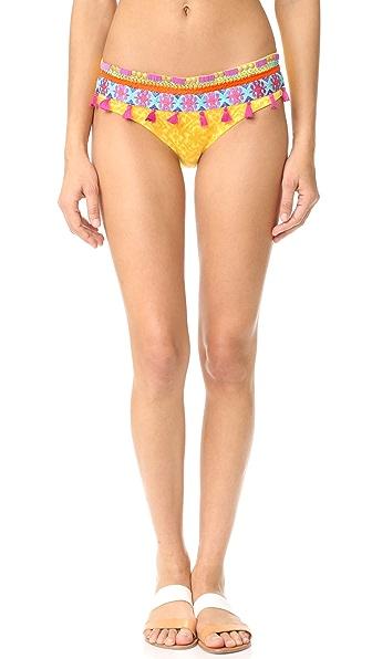 OndadeMar Limoncello Embroidered Bikini Bottoms