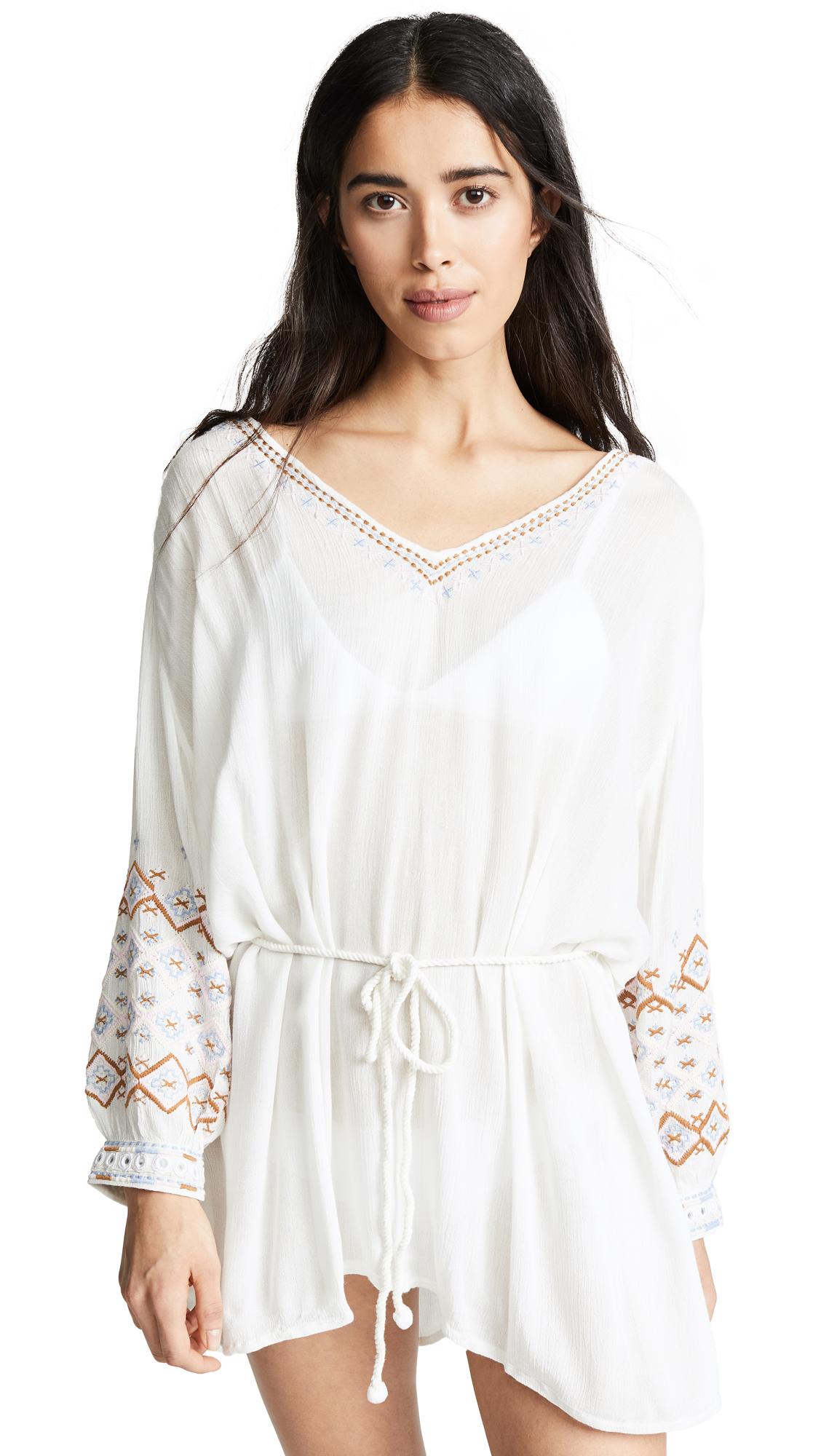 ONDADEMAR Crinkled Tunic in White