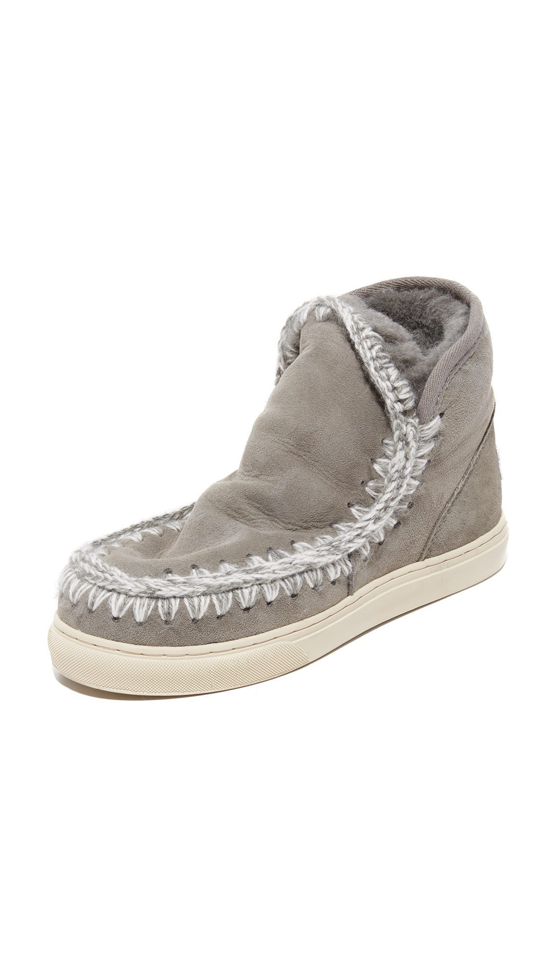 One By Mou Mini Eskimo Sneaker Booties - Ngre