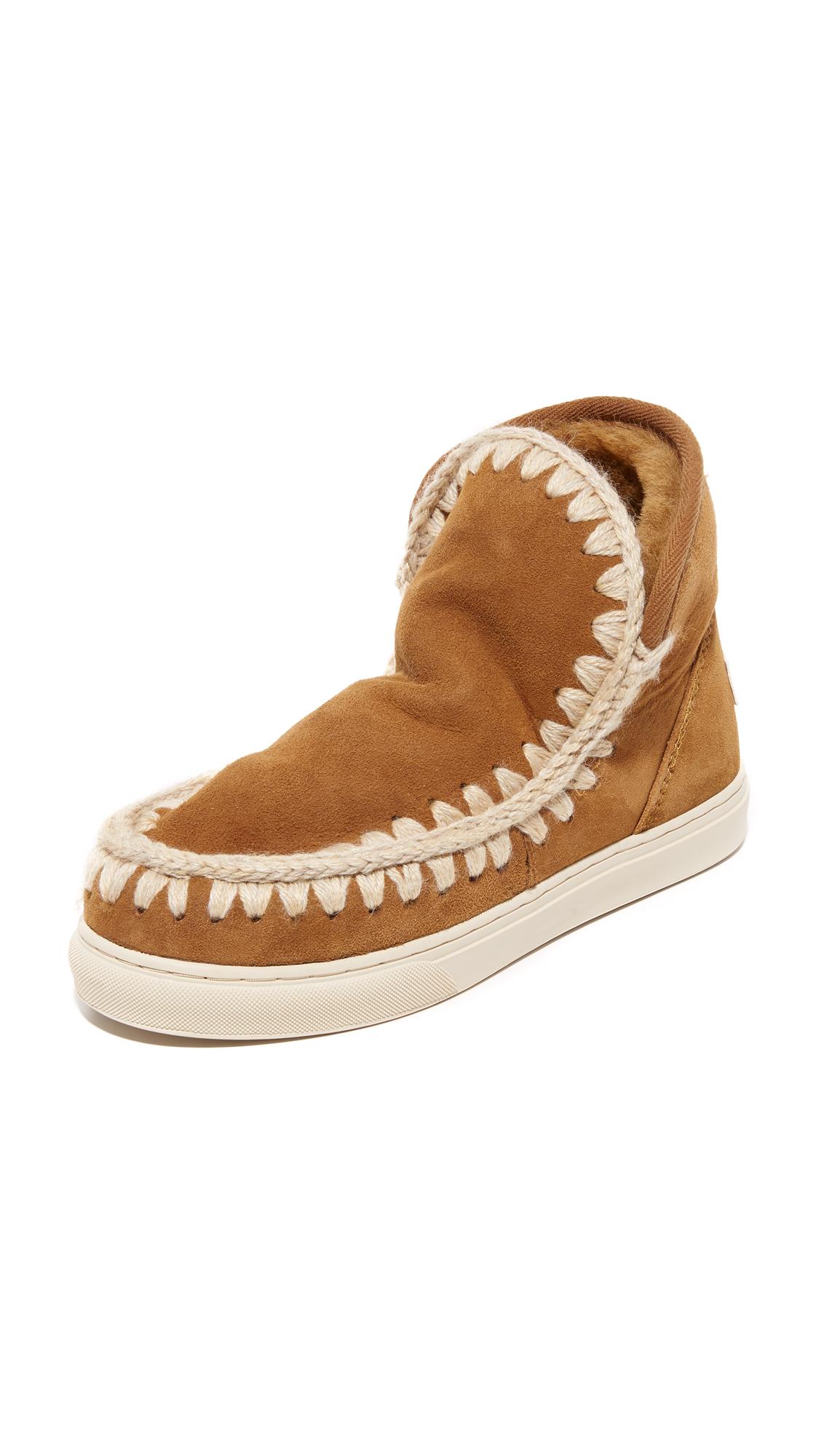 One By Mou Mini Eskimo Sneaker Booties - Cog