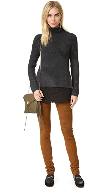 ONE by Sienna Zac Cashmere Sweater with Lace Layer
