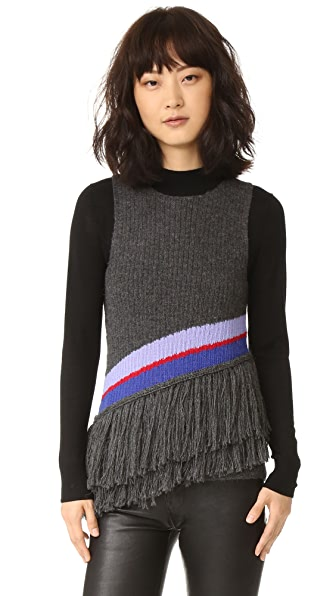ONE by HARARE Sophia Knit Top - Charcoal/Lilac