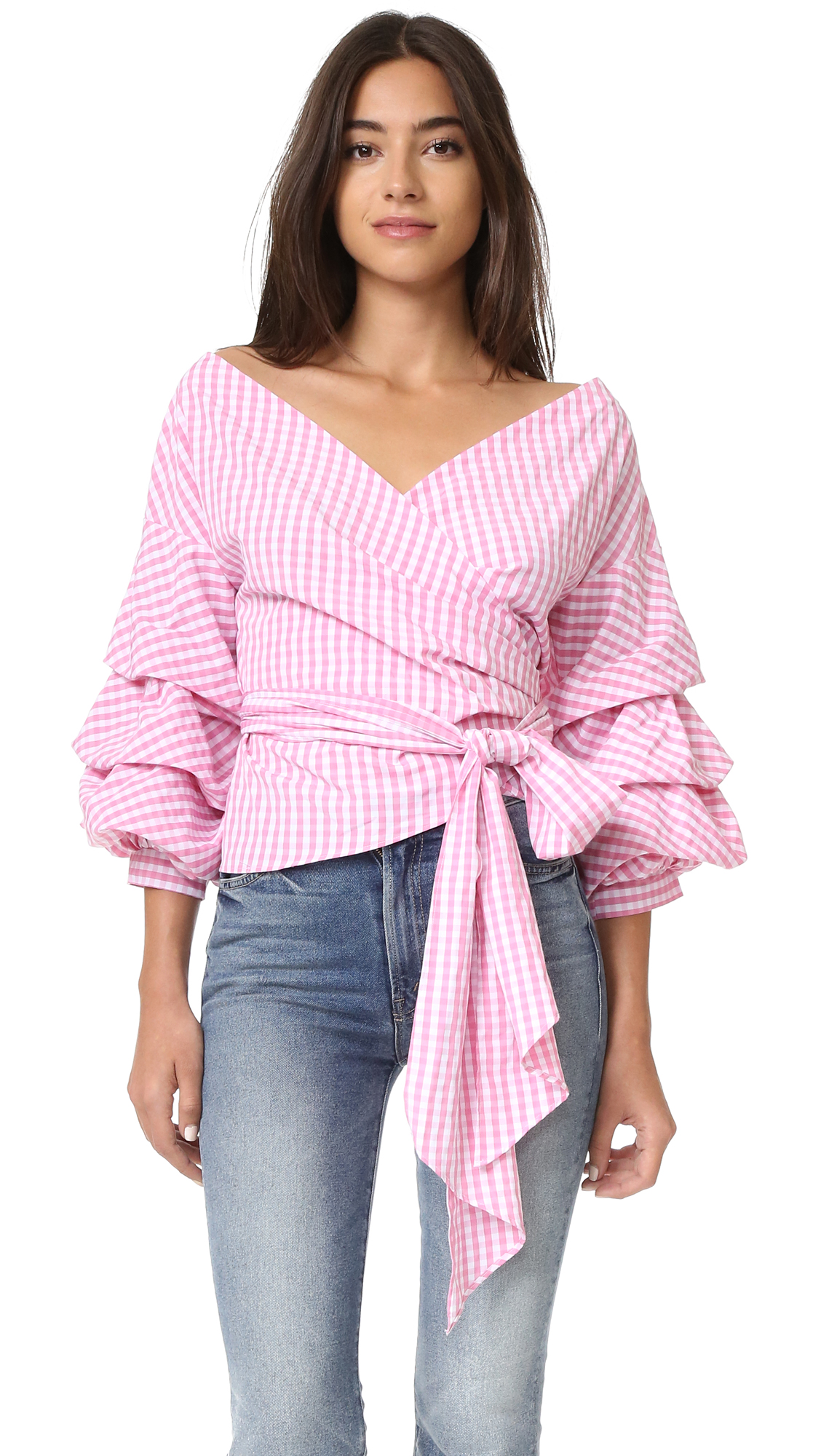 ONE by Modern Vintage Top - Checked Pink
