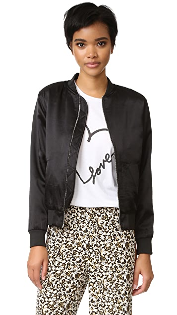 ONE by M.A.P Lady Luck Embroidery Bomber Jacket