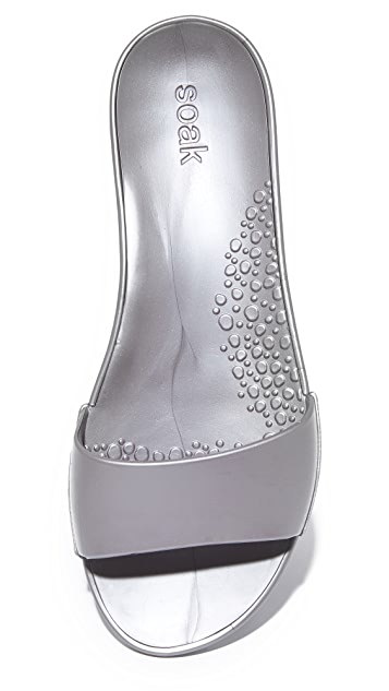 ONE by SOAK Metallic Slide Sandals