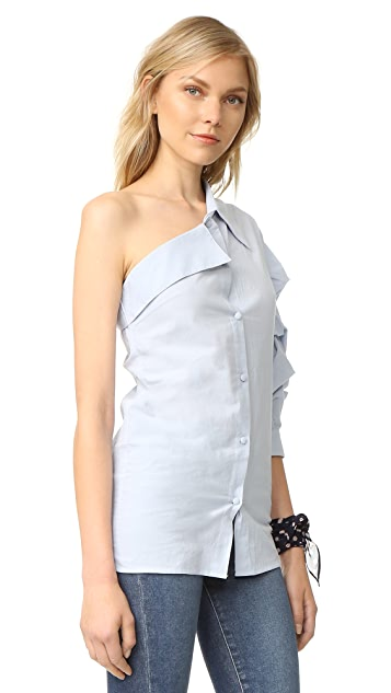 ONE by STYLEKEEPERS One Shoulder Shirt