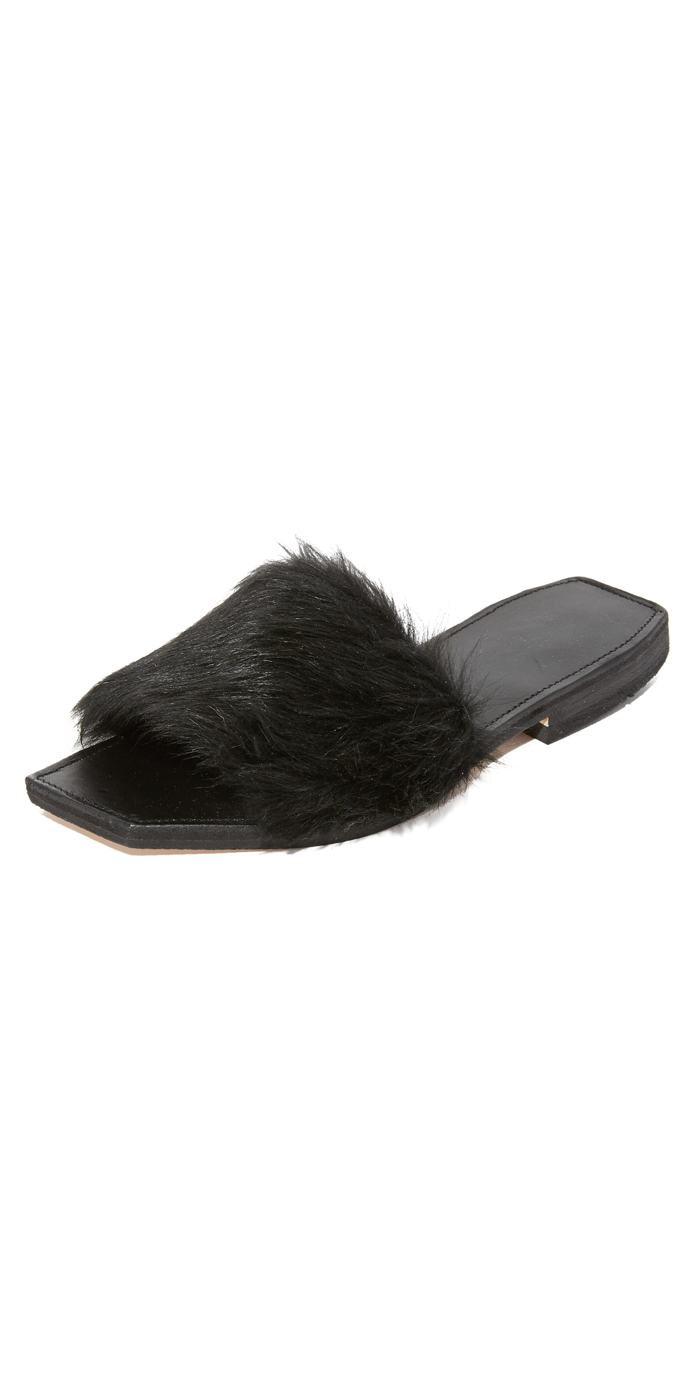 Faux Fur Slides ONE by Parme Marin
