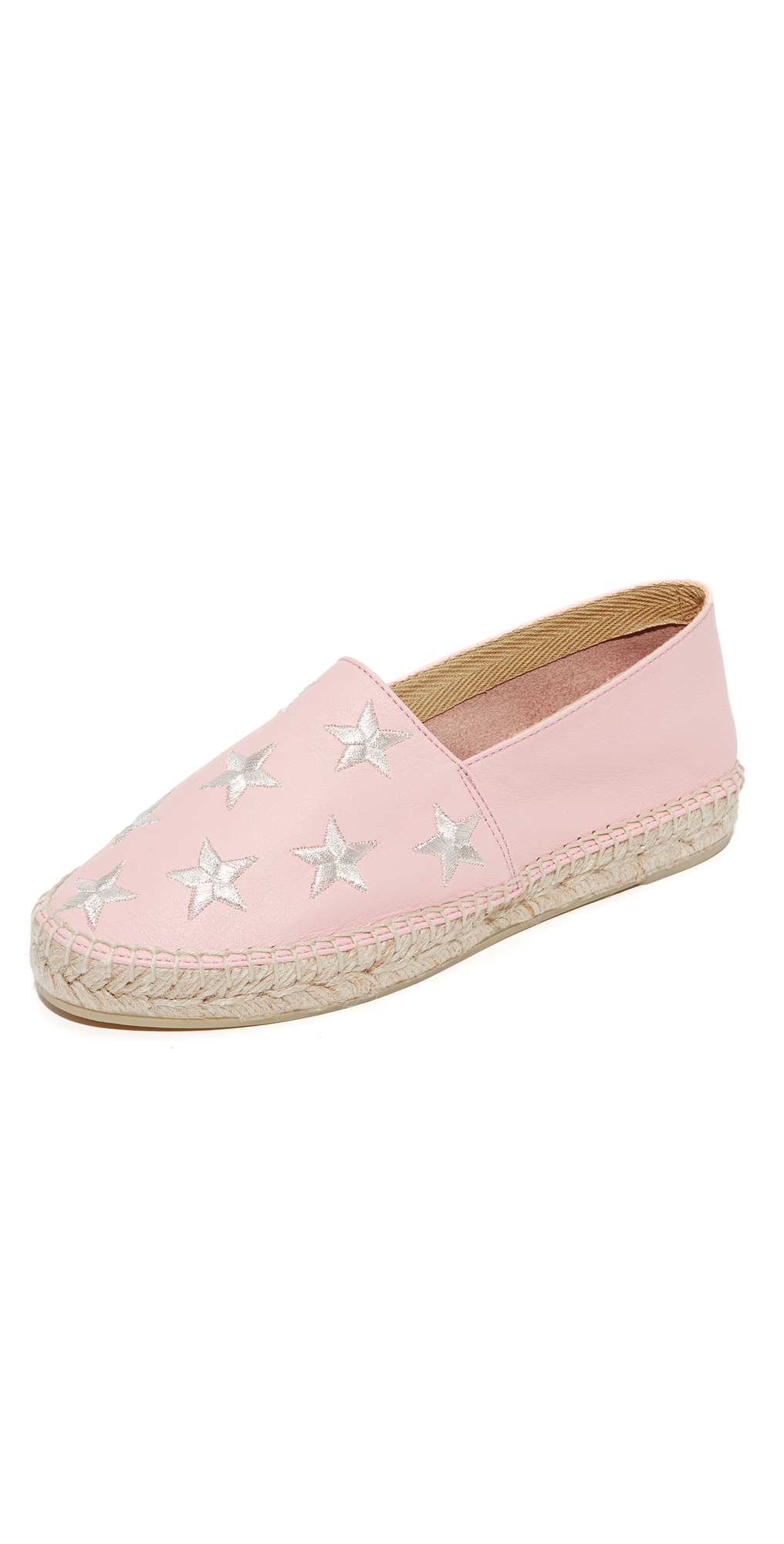 Star Embroidered Leather Espadrilles ONE by South Parade Footwear
