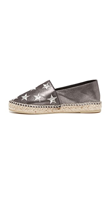 ONE by South Parade Footwear Star Embroidered Leather Espadrilles