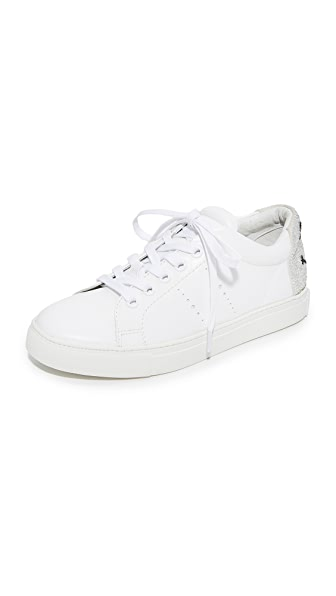 ONE by Lola Cruz Smile Sneakers - White/Silver