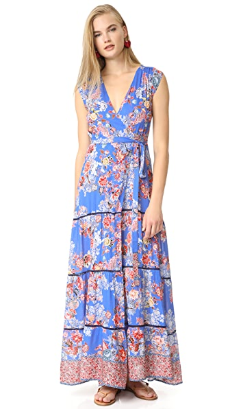 ONE by Maxi Wrap Dress In Azure Floral
