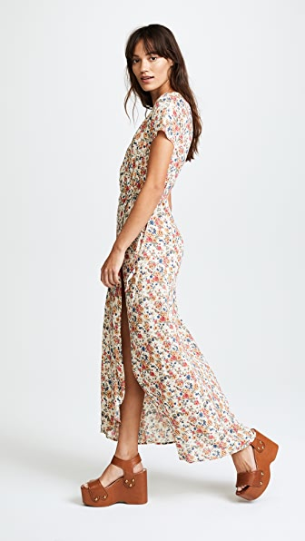 ONE by AUGUSTE Wild Rose Maxi Wrap Dress
