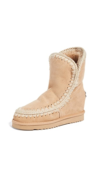 ONE by Inner Wedge Short Boots In Tan