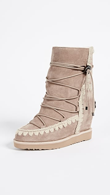 ONE by Mou French Toe Wedge Short Boots