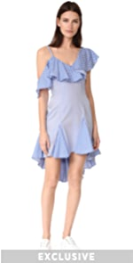 Daria Off Shoulder Ruffle Dress ONE by UnitedWood