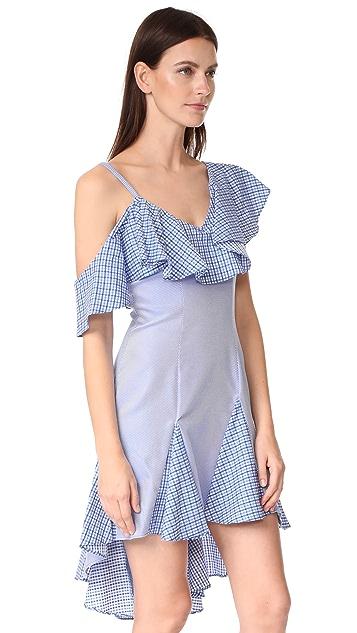 ONE by UnitedWood Daria Off Shoulder Ruffle Dress