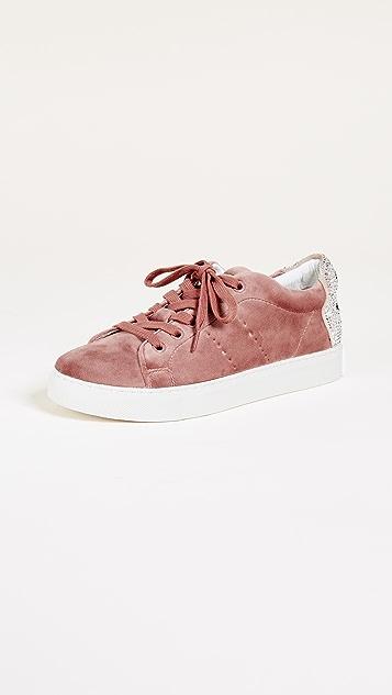 ONE by Lola Cruz Smile Velvet Sneakers