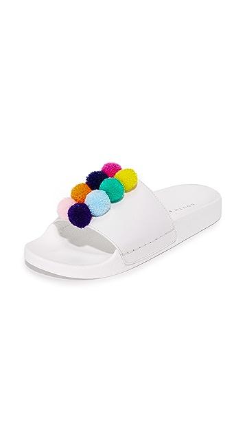 ONE by South Parade Footwear Pom Pom Slides