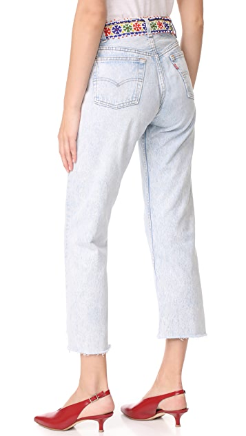 ONE by Tricia Fix Denim Jeans With Beaded Belt