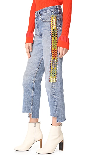 ONE by Tricia Fix Denim Jeans with Side Beading