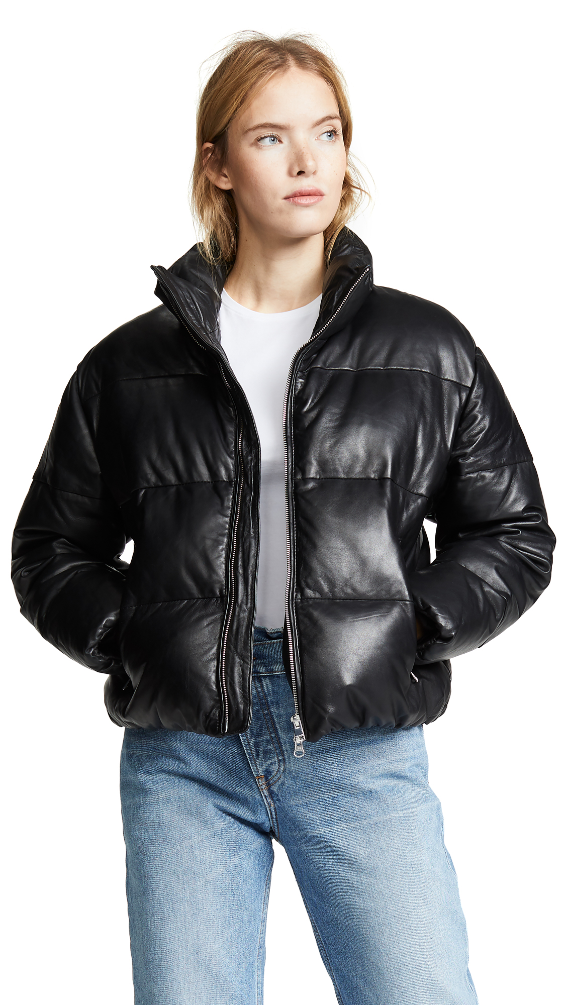 ONE by Iris Leather Puffer
