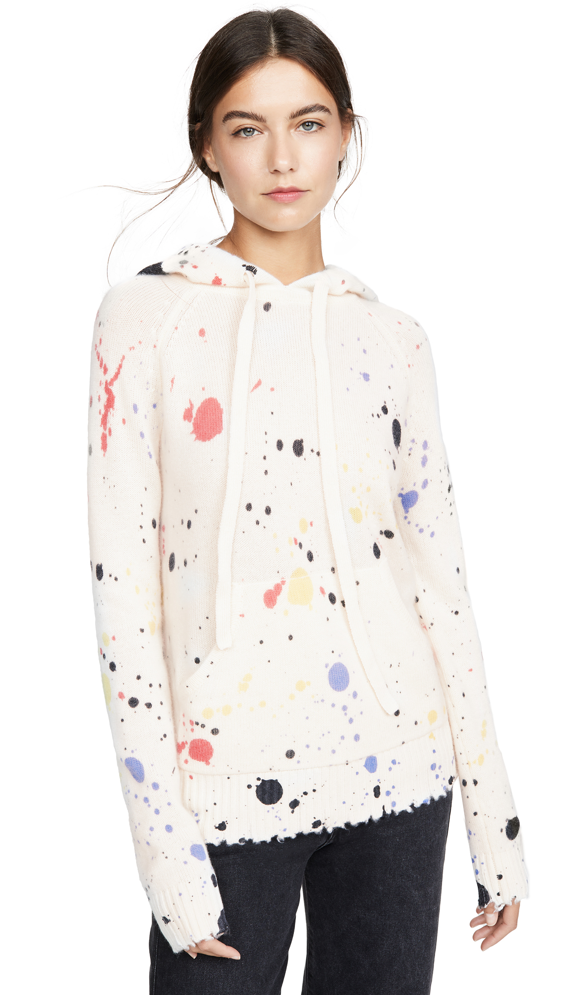 Buy ONE by Threads of PRVLG online - photo of ONE by Cashmere Splatter Hoodie