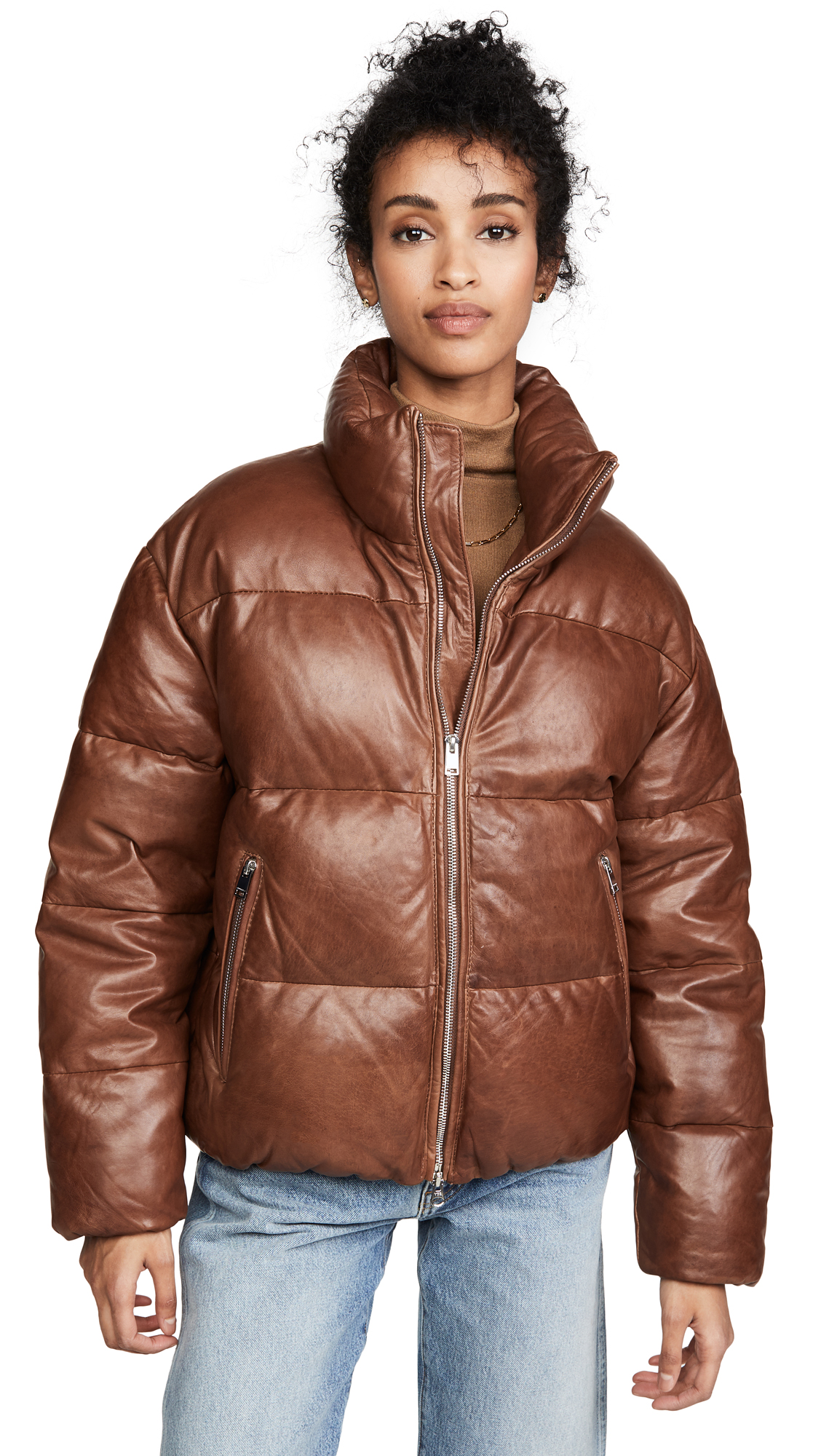 Buy ONE by Iris Leather Puffer online beautiful ONE by LAMARQUE Jackets, Coats, Down Jackets