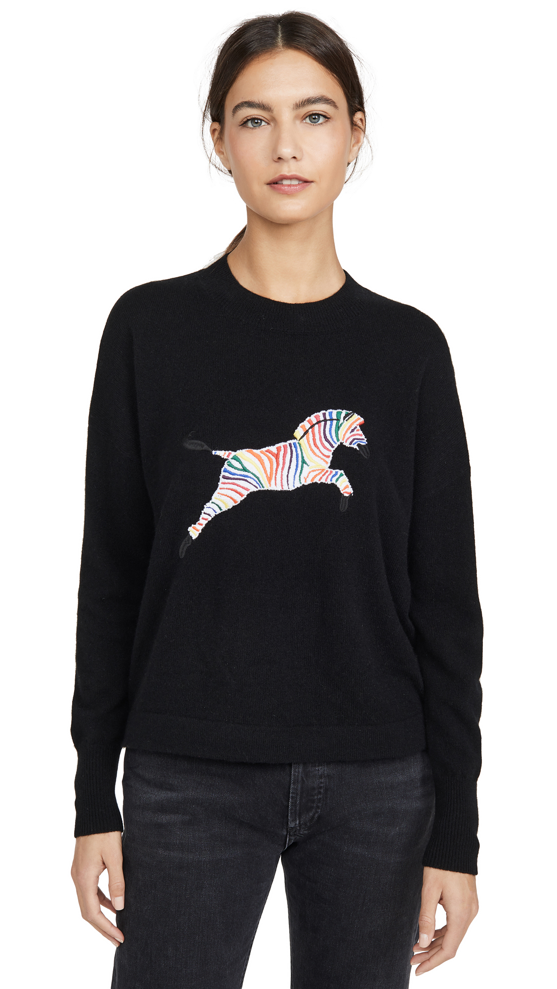Buy ONE by 27 Miles online - photo of ONE by Elektra Zebra Cashmere Sweater