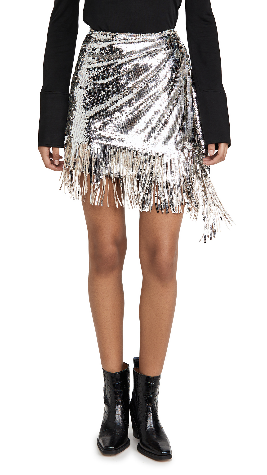 Buy ONE by PINKO online - photo of ONE by Sequin Skirt