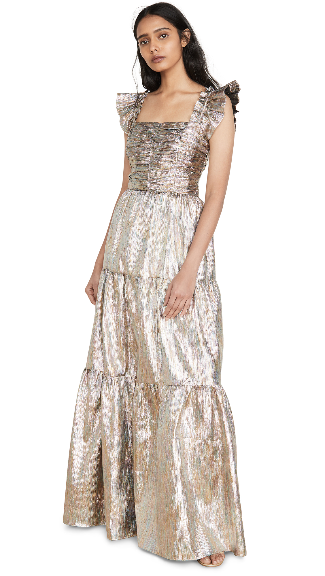 Buy ONE by Ruffled Shoulder Maxi Dress online beautiful ONE by Gilner Farrar Dresses, Strapless