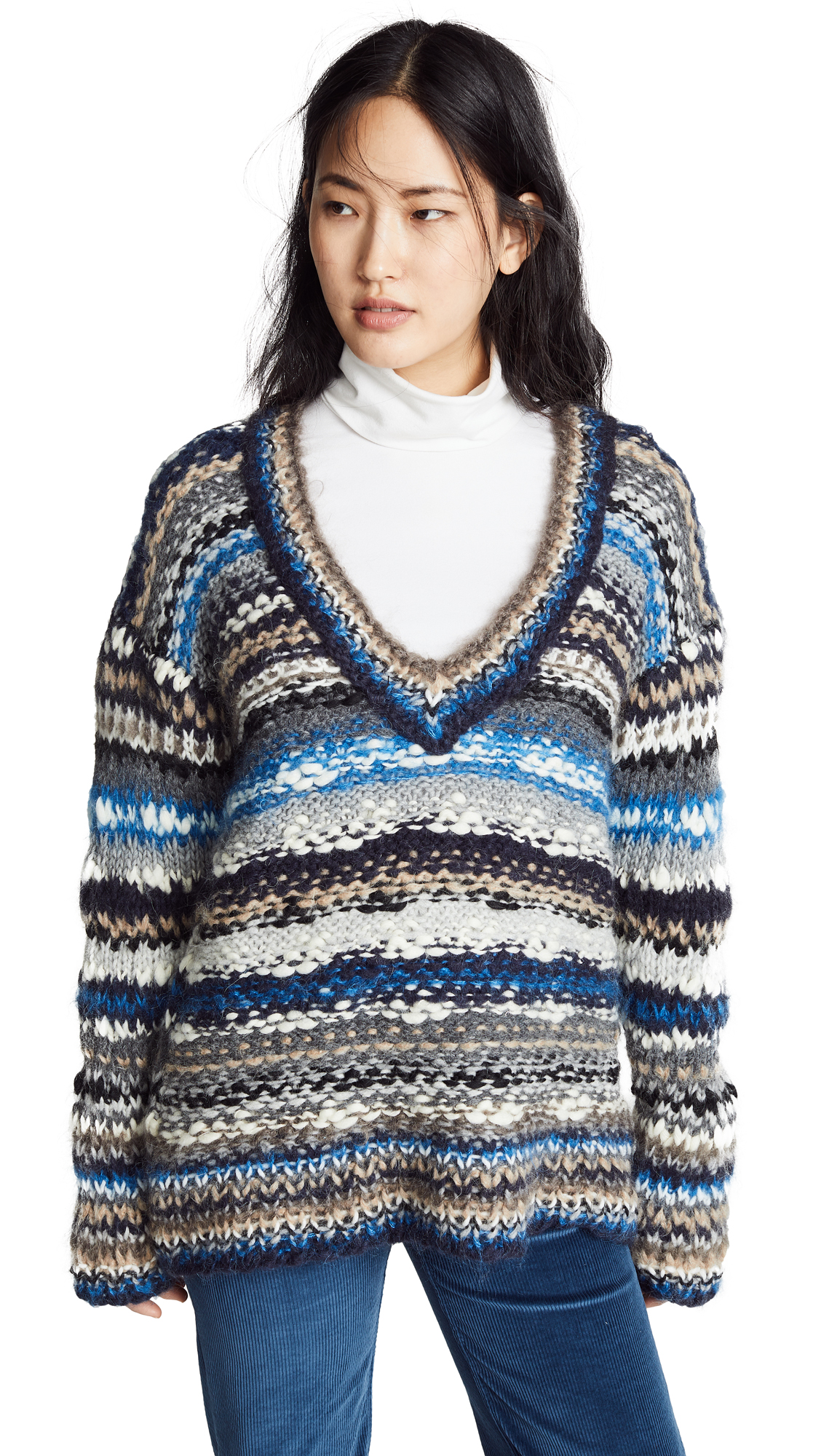 ONE ON ONE Desirable Sweater in Blue Combo