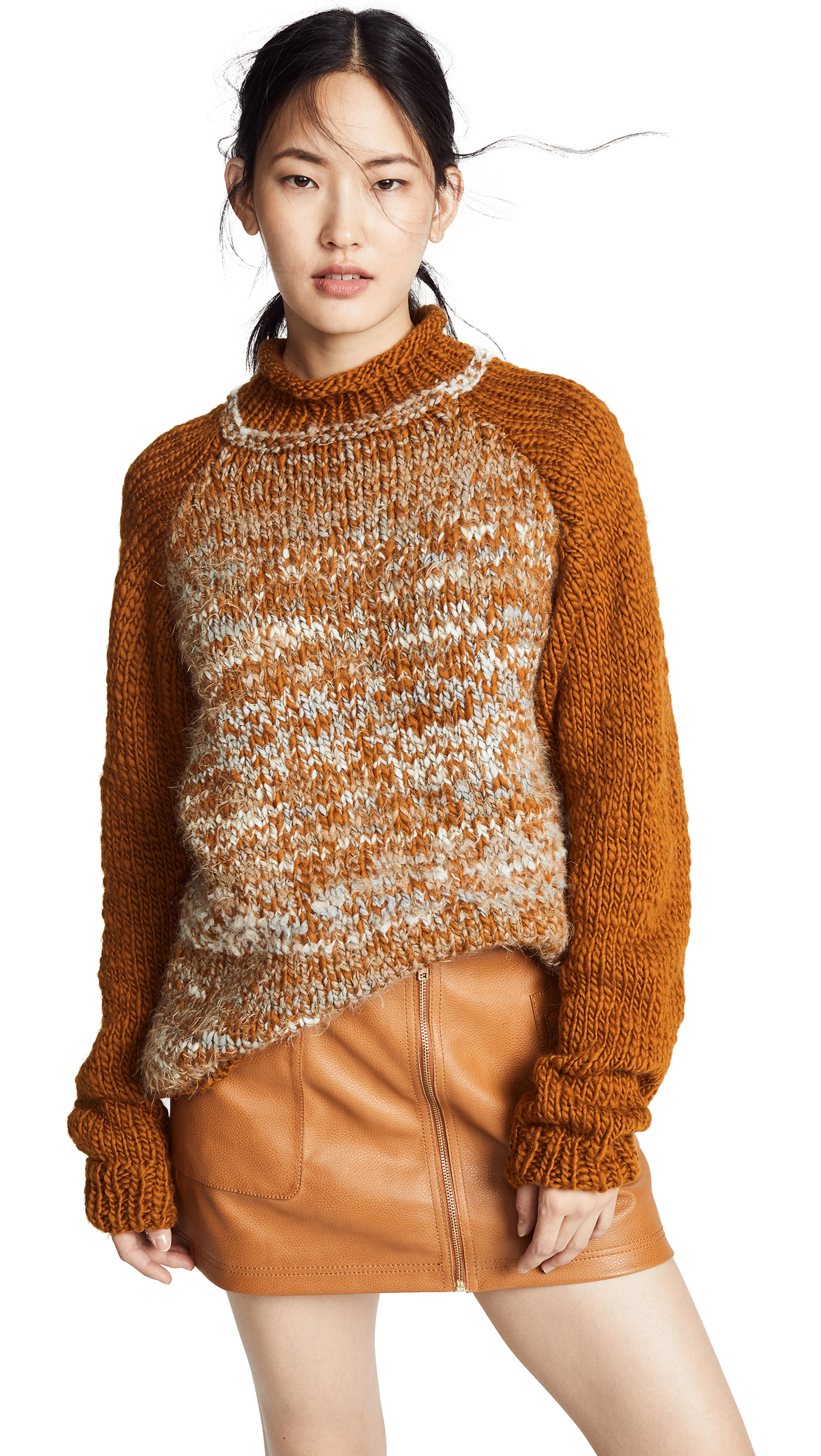 ONE ON ONE Indifferent Sweater in Terracotta