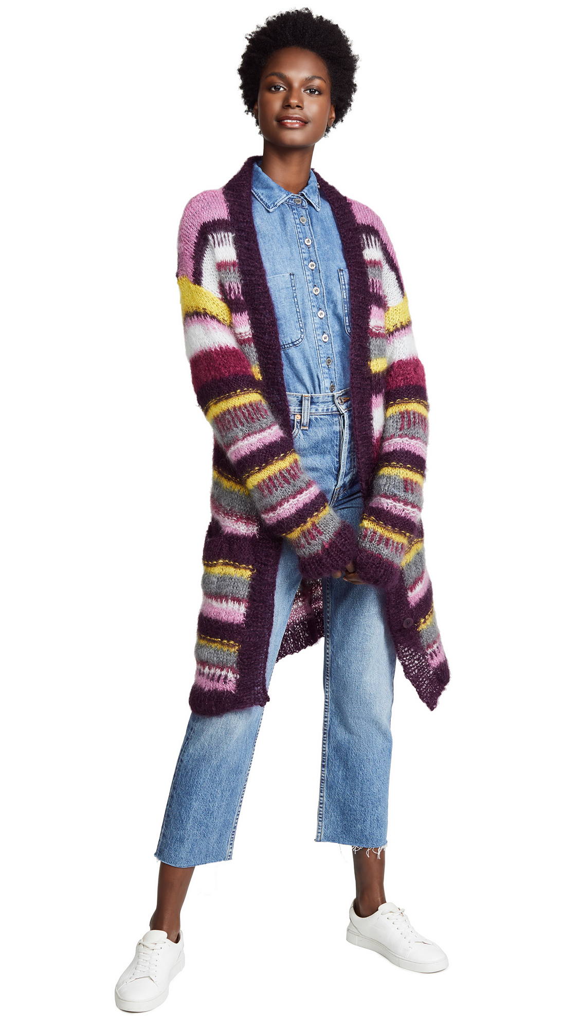 ONE ON ONE Arousal Cardigan in Aubergine Combo