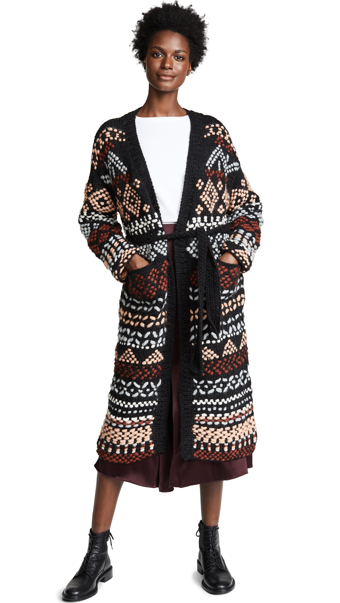 ONE ON ONE Imagination Coat in Black Combo