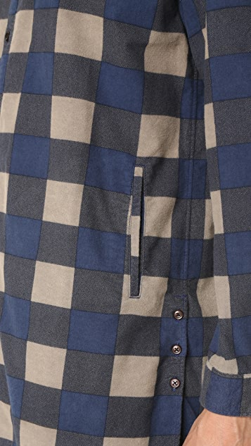 Ones Stroke Flannel Check Long Shirt