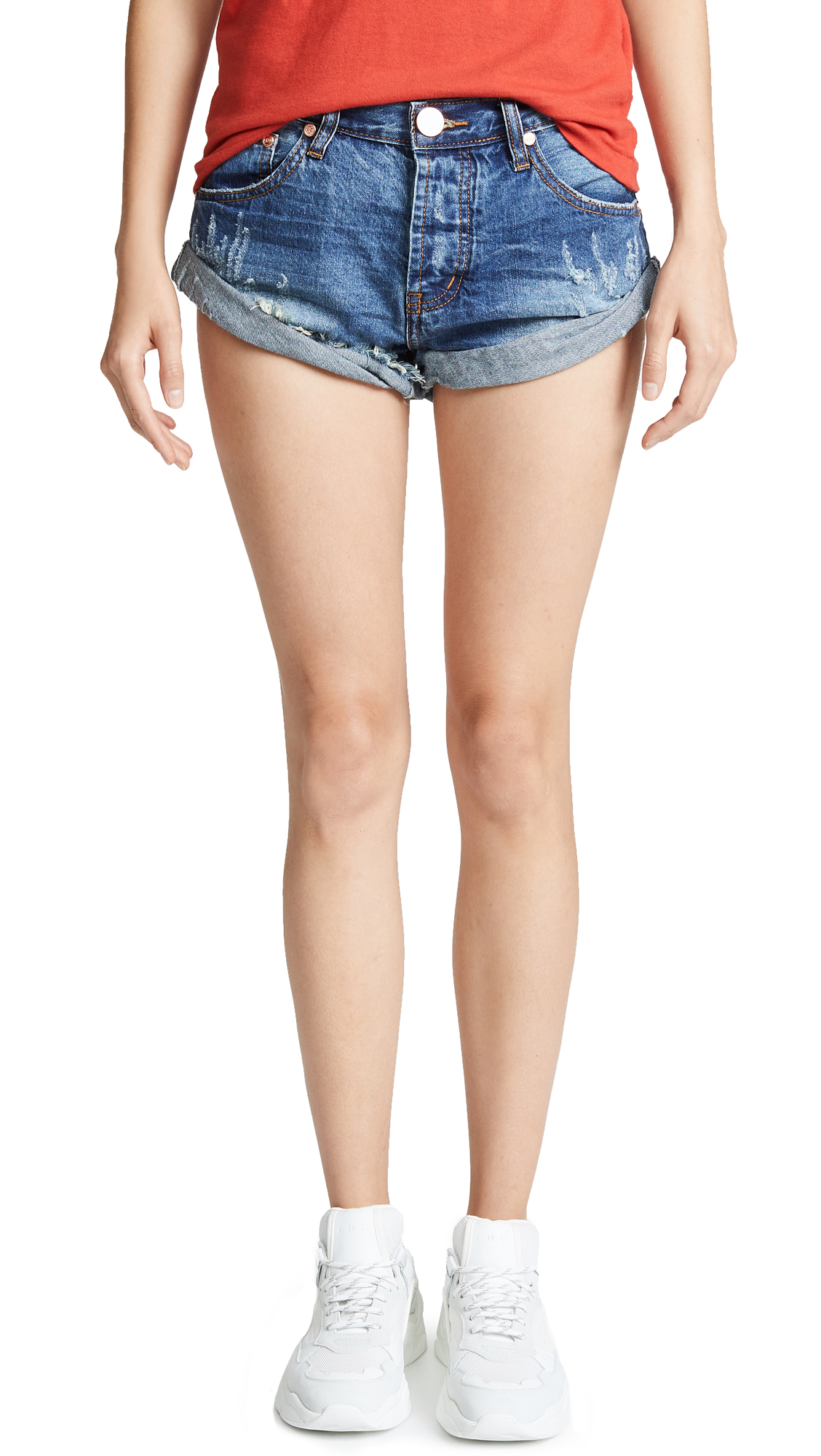 One Teaspoon Pacifica Bandits Shorts In Pacifica