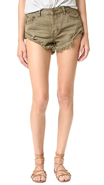 One Teaspoon Khaki Bandits Shorts