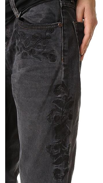 One Teaspoon Black Van Lola Awesome Baggy Jeans