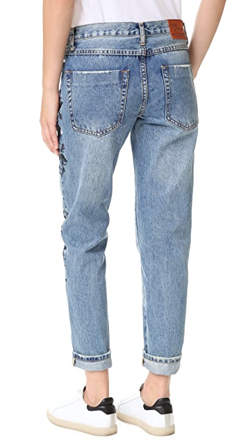One Teaspoon Blue Muse Lola Awesome Baggie Jeans