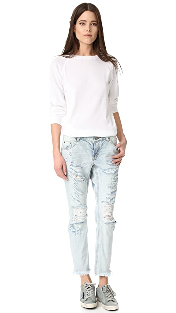 One Teaspoon Blue Hart Lonely Boy Jeans