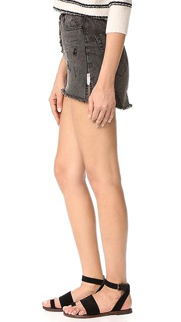 One Teaspoon Coal Miniskirt