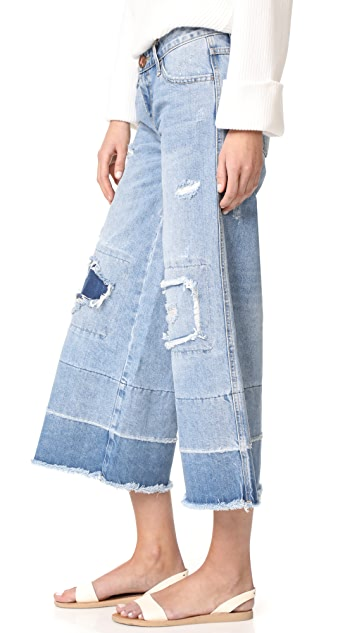 One Teaspoon Blue Bone Mrs. James Culotte Jeans