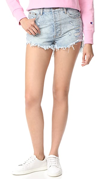 One Teaspoon Blue Hart Outlaw Shorts