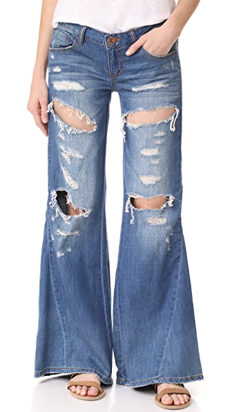 One Teaspoon Расклешенные джинсы Johnies Bell