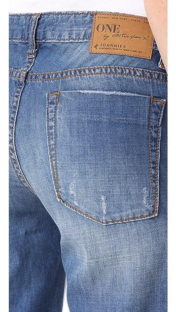 One Teaspoon Johnies Bell Bottom Jeans